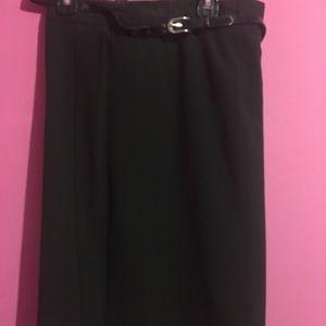Courtney black knee length skirt